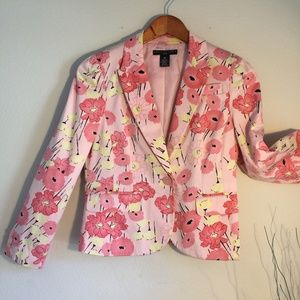 Pink Poppy Floral Jacket, tailored 4P